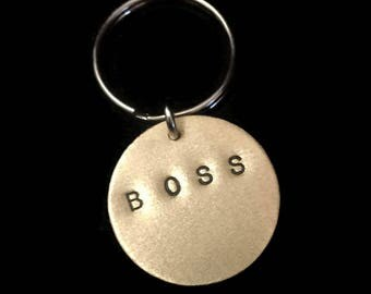 Like a Boss, Gifts Under 20, Boss Bitch, Boss Babe, INVENTORY PURGE - 40% Off - Stamped Disc Keychain, Mens Keychain, I am the Shit, Unisex