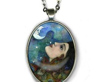 Butterfly Maiden Goddess - Goddess Jewelry - Goddess Art - Hopi Goddess - girlfriend gift necklace - Boho chic