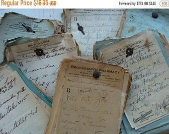 ON SALE Antique Medical Rx Prescriptions 1930s to 1960s Bundle Lot