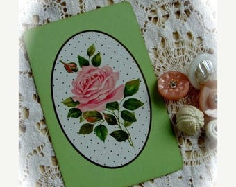 ONSALE Stunning Vintage  Shabby Chic Pink Roses