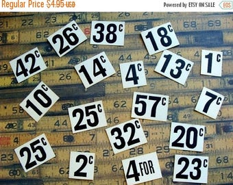 ONSALE One Dozen Cardboard Antique 1930s  Zimmerman  pricing shelf merchandise Type System
