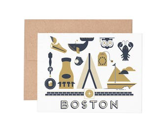 Boxed Cards - Boston Letterpress Greeting Cards - Boxed Set | Blank Cards | All Occassion