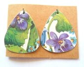 Upcycled Vintage English Tin Earring Findings Pair