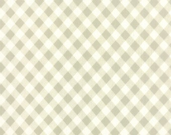 SUMMER SALE - 3 3/4 Wideback Yards - 108 wide - Vintage Picnic - Plaid in Gray - SKU 11111-15 - Bonnie and Camille for Moda Fabrics