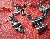 State Set - OREGON  - State Wine Charms