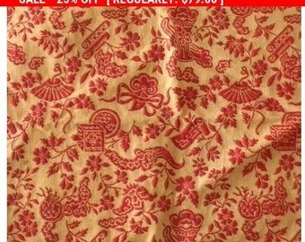 Antique Brocade Fabric French 1800s Chinoiserie