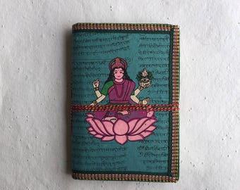 Wealth Journal, Hindu Deity Laxmi Journal, Business Goals Journal, Business Scheduler Book, Goddess of Wealth, Assets Diary, Recycled Paper