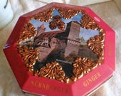 SALE Schuhmann German Christmas Cookie Tin Nurnberger Ginger bread Tin colorful holiday tin container storage tin