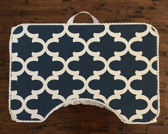 Crisp and Clean Navy and White Large Lap Desk