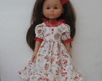 Clothes for Corolle Les Cheries,Paola Reina Doll Dress with Hair Snap