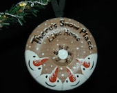 Snowman Family Ornament Personalized- Woodburned & Hand Painted  - Your Choice Between 2 to 6 Names