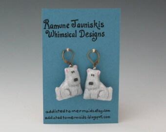 West Highland Terrier, DOGS EARRINGS. dogs, jewelry. earrings dogs, Dogs earrings,