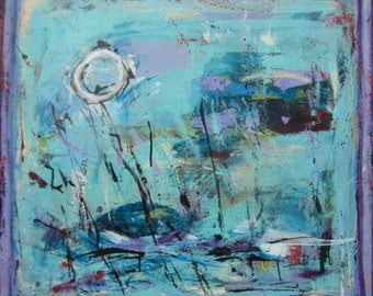 Abstract Large Original Painting by Francine Ethier