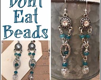 Antique style earrings #17july805