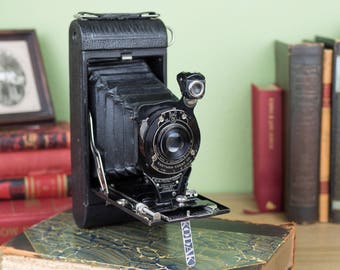 Vintage No 1A Pocket Kodak Autographic Camera - Leather Bellows with case.