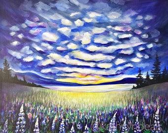 Wildflower Painting - British Columbia Art Canvas Print