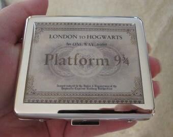 Platform Ticket 8 Day Pill Box with Mirror