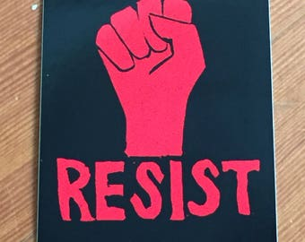 Set of 4 Resist stickers (FREE SHIPPING)