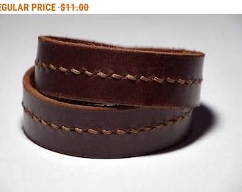 Brown Leather Wrap Bracelet Leather Cuff Leather Bracelet