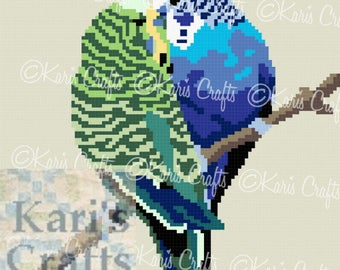 Parakeets Afghan Blanket PDF Pattern Graph + Written Instructions - Instant Download