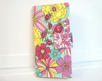 12 - 38 Slot Card Loyalty Card Organizer, Business Card Holder Credit Card Wallet  Wild Flowers