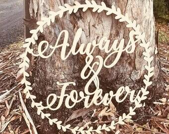 ALWAYS & FOREVER decorative wreath