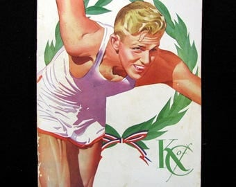 1945 KNIGHTS OF COLUMBUS 26th Annual Athletic Meet Program Madison Square Garden