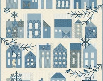 Winter Village Traditional Quilt Pattern by Laundry Basket Quilts