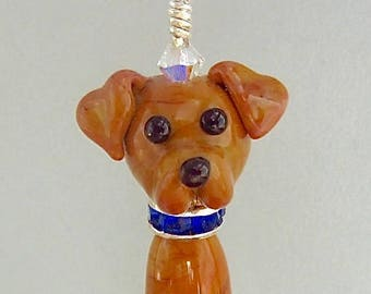 Labrador Retriever - Handmade Lampwork Glass Dog SRA