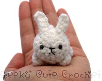 White Bunny Rabbit Yami Amigurumi Plush Toy Crochet Stuffed Animal Usagi