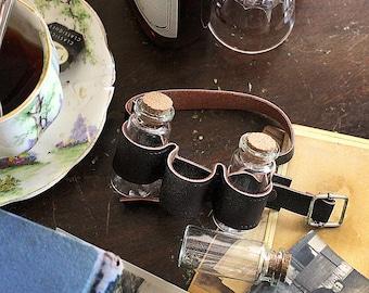 Leather Cuff , Mini Bottle Bracelet , Tea Cuff , Travel Accessory , Travel , Essential Oil Bracelet , Bracelet , Jewelry , Steampunk Jewelry