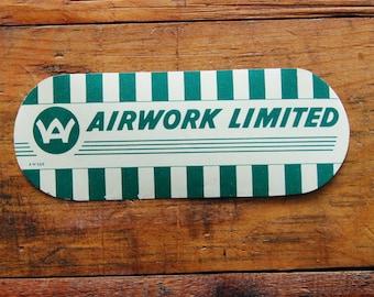 Vintage AirWork Limited Travel Decal Gummed Sticker