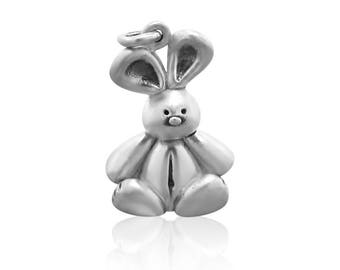 Sterling Silver Bunny Charms Necklace • Cute Bunny Necklace • Rabbit Charm • Necklaces Gift for Girls • Dainty Necklace Gift for Her