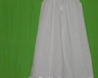 White Poplin Girls Nightie size 7