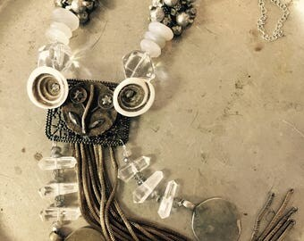 Tribal Fusion necklace steel cut and bullion