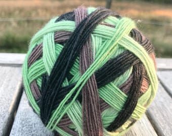 Self Striping Sock Yarn - Kiwi Fruit