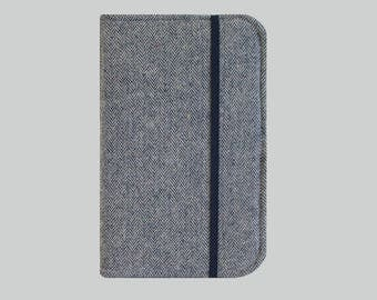 Kindle Paperwhite Case, Kindle Cover Hardcover, Kindle Case, Kobo, Kindle Voyage, Kindle Fire HD 6 7, Nook GlowLight Blue Herringbone