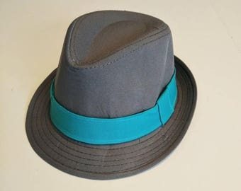 SALE Gray Fedora-Choose color of band-Toddler and Boy    4 weeks BEFORE SHIPMENT