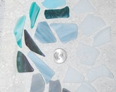 Stained Glass Sampler Faux Sea Glass recycled glass 19 pieces