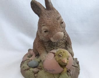 Vintage Cairn Studio Tim Wolfe's March and April Bunny and Chick  ReSigned