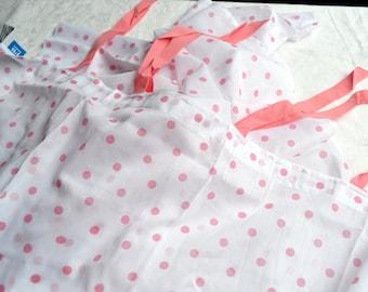 Pottery Barn Curtain Panel - Pink Polka Dot Dottie Sheer - One Cotton Panel 44 x 96