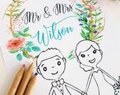 Kids Activity Pack Wedding Children Activities Book, Favor Kids Activity Book, Wedding Book Kids Activity, Coloring Page, Instant Download