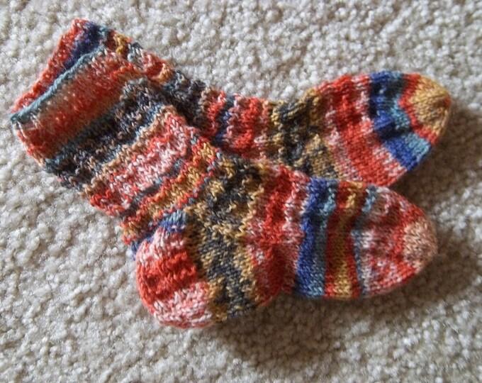 Socks for Toddler - Handknitted Socks  - 4-6 Years  US Children