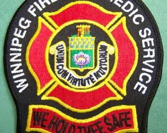 Winnipeg Fire Paramedic Service uniform patch - Manitoba
