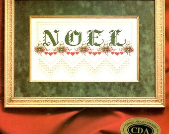 Noel Hearts Floral Bouquets Sampler Stocking Cuff Ornaments Bell Pull Hardanger Embroidery Counted Cross Stitch Craft Pattern Leaflet