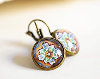 AZULEJOS Bronze Earrings