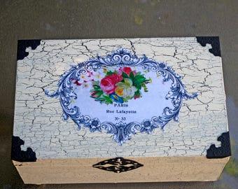 Romantic Paris Roses Jewelry Box Vintage Style