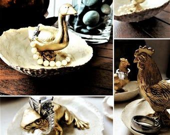 RING HOLDER Animal Jewelry Dish Gold Dog Jewelry Holder Ring Dish Trinket Tray Plate Bowl Organizer Wedding Ring Holder Ring Stand Ring Tree
