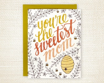 Mother's Day Card - Sweetest Mom