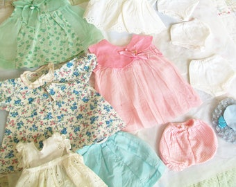 Vintage Doll Clothes, 1940s, 1950s, 11 items